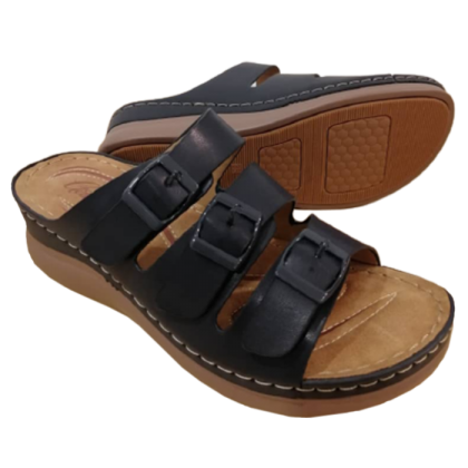 Gatti Women Sandal ARYA PU Leather Sandal Wedge Heel Navy 2182M04-32
