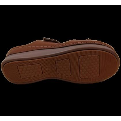 Gatti Women Sandal ASHLEY PU Leather Sandal Wedge Heel Brown 2182M06-07