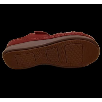 Gatti Women Sandal ASHLEY PU Leather Sandal Wedge Heel Red 2182M06-05