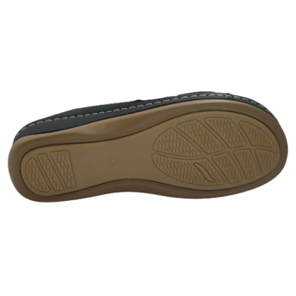 Gatti Women Sandal EMBERLY PU Leather Sandal Wedge Heel Black 2182M11-01
