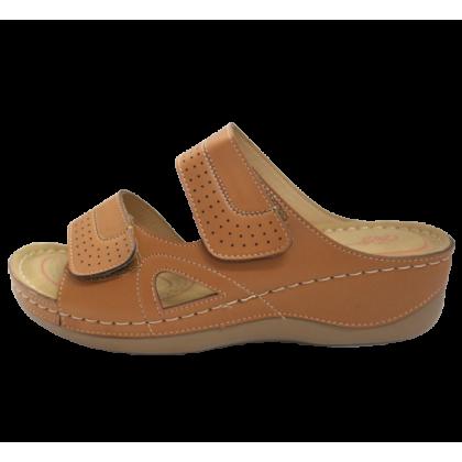 Gatti Women Sandal EMBERLY PU Leather Sandal Wedge Heel Brown 2182M11-07
