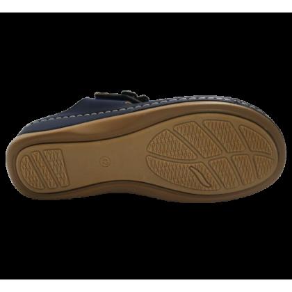 Gatti Women Sandal EMBERLY PU Leather Sandal Wedge Heel Dark Blue 2182M11-32