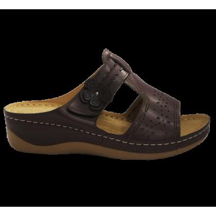 Gatti Women Sandal EMBERLY PU Leather Sandal Wedge Heel Maroon 2182M11-25