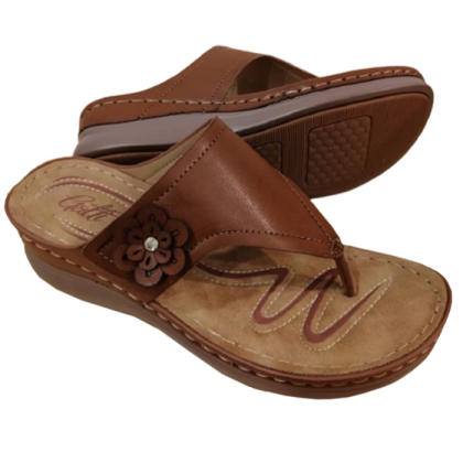 Gatti Women Sandal FADE PU Leather Sandal Wedge Heel Fade Brown 2182M05-07