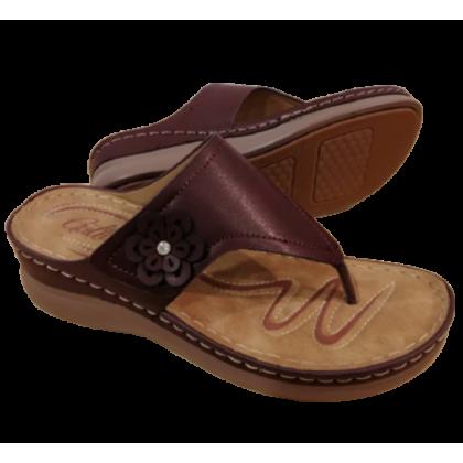 Gatti Women Sandal FADE PU Leather Sandal Wedge Heel Fade Maroon 2182M05-25